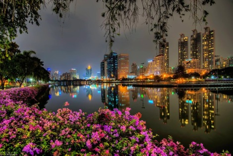 Bangkok at the night time