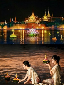 Loy Kratong Festival Thaialnd
