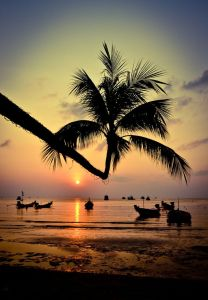 Stunning sunset over Koh samui,Thailand
