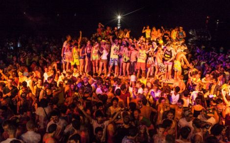 Full moon beach party at koh pagnan ( in koh samui)