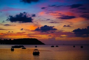Stunning Sunset over Koh Samui - Thailand.