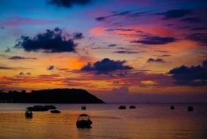 Stunning Sunset over Koh Samui - Thailand.
