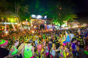 Full moon beach party at Koh Pagnan ( in koh samui ) Thailand,30 June 15.