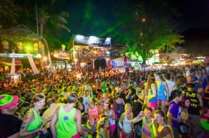 Full moon beach party at Koh Pagnan ( in koh samui ) Thailand,30 June 15.