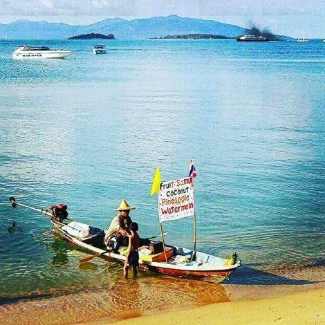 bangrak beach in Koh samui - Thailand.