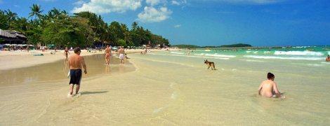 Chaweng beach in Koh samui - Thailand.