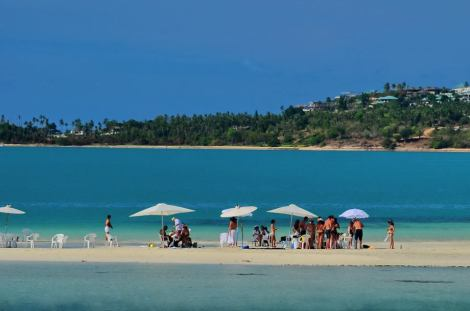 Bang Rak Beach in Koh samui - Thailand.