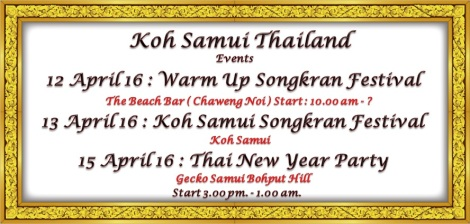 Koh samui - Thailand,Thai new year events.