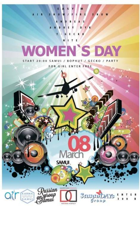 Russian Women's day @ Geck osamui -Thailand.