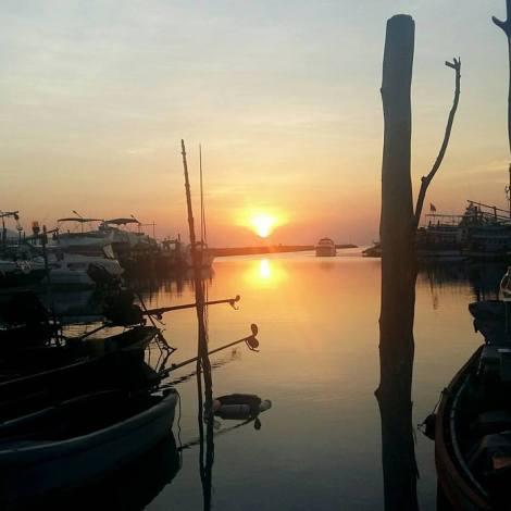 Gorgeous sunset over Koh samui - Thailand.