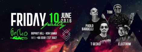 Koh samui Friday party @ Gecko samui Thailand.