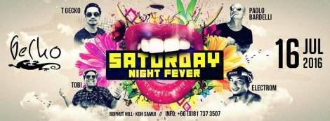 Every Saturday at Gecko samui - Thailand.