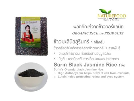 Black jasmine rice from Surin province - Thailand.