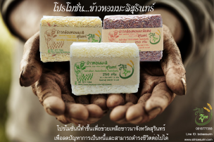Original jasmine rice from Surin province , Thailand.