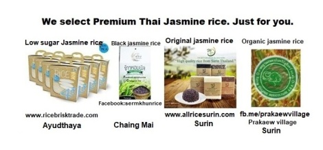 All the best Jasmine rice from Thailand.