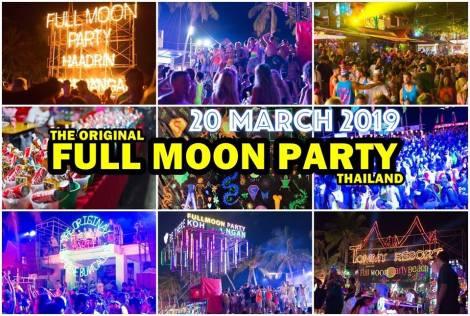 Full moon beach party, Koh samui - Phagnan - Thailand.